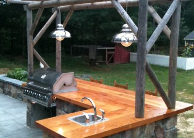 Ward's Wood Top Grill Station